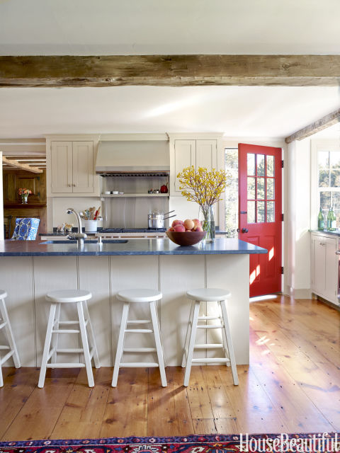 Southern Kitchen with Shaker Style Cabinets and Soapstone Counters by Ramsay Gourd