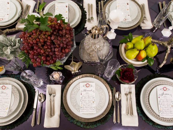 Jung Lee Festive Holiday Tablescape, Architectural Digest