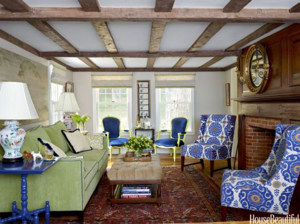 Green & Blue Living Room by Ramsay Gourd