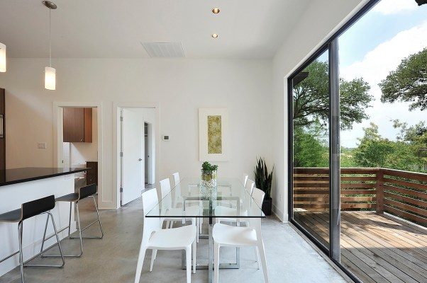 Indoor/Outdoor Transitional Space by Riverside Homes