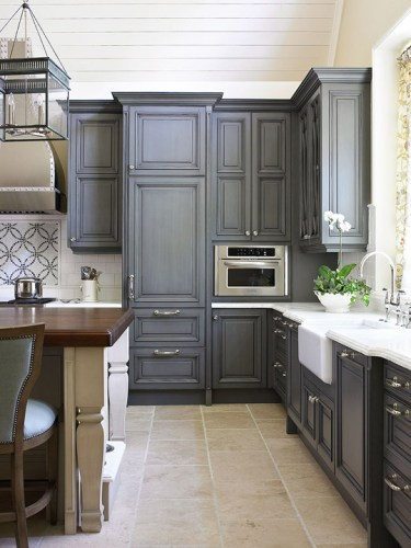 kitchen cabinet trends 2016-2017, custom charcoaled ...