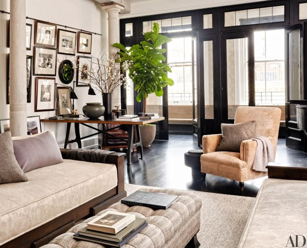 Loft Living Room with Contrasting Dark Finish, Monique Gibson