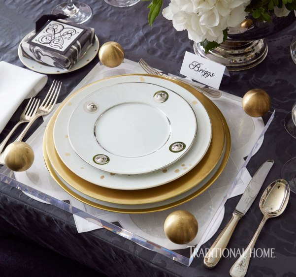 Holiday Table with Festive Metallics, Megan Winters