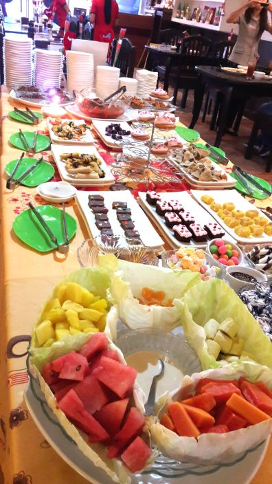 The Salad Bar - which had been slightly changed in-line of the Valentine's Day celebration.