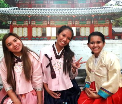 Me trying to be cute in a hanbok but ended up ruining the picture of the other two. #ThugLife