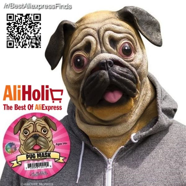 Latex pug mask Aliexpress