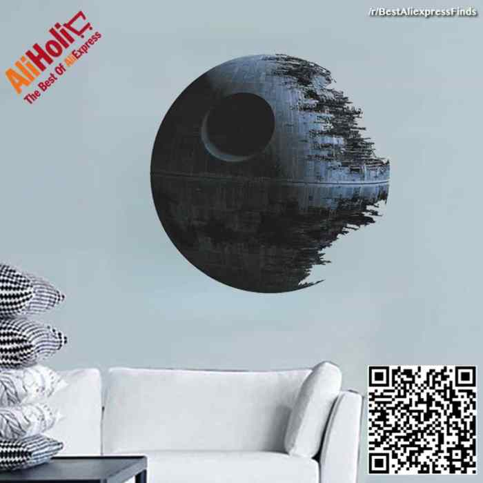 Star Wars death star wall vinyl sticker Aliexpress