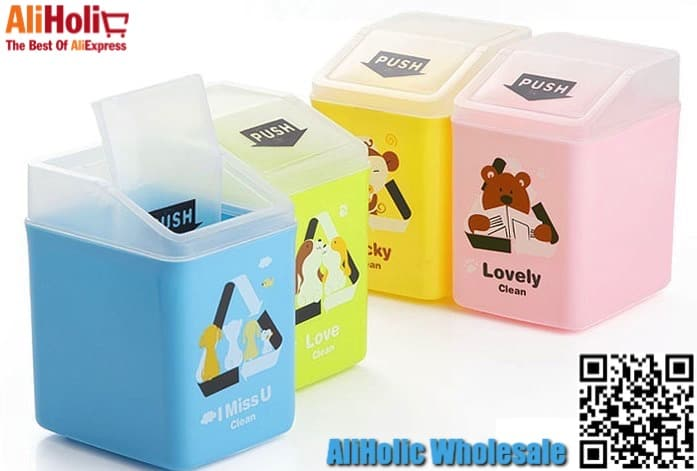 10 pcs mini desktop trash bins