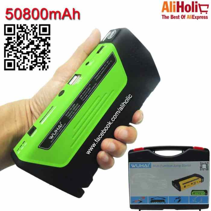 50800 WUHAI Power bank car laptop charger AliExpress 3