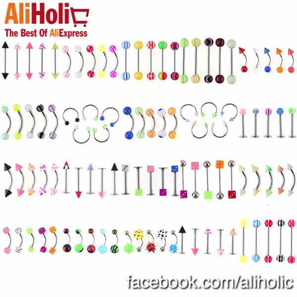 Piercing 105 pc. lot AliExpress