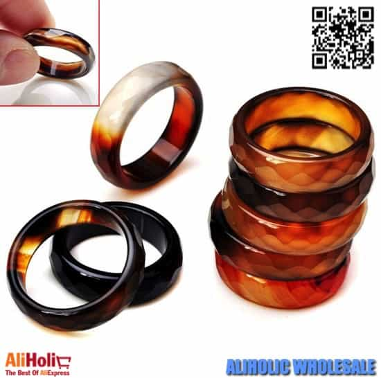Agate rings wholesale