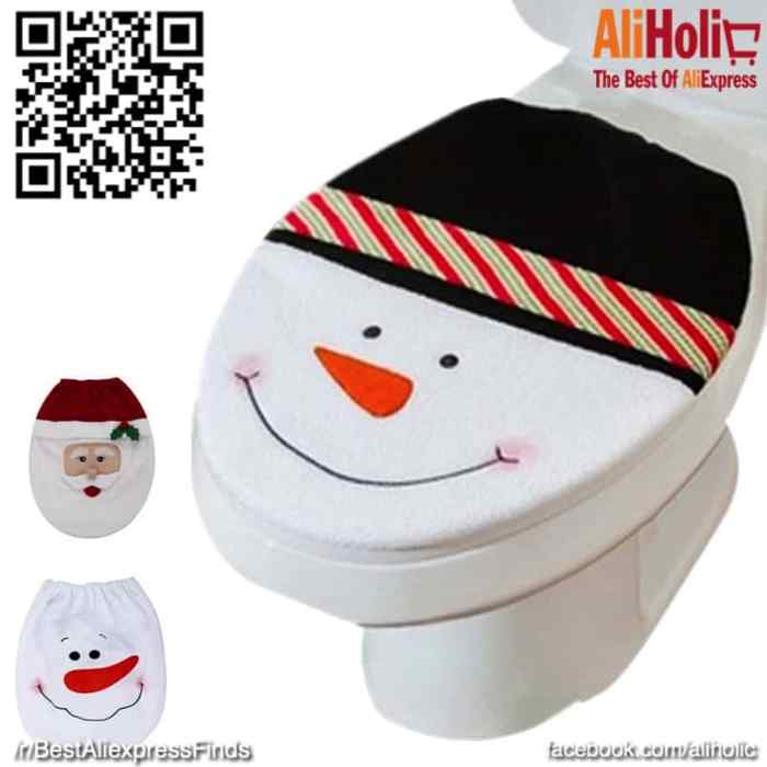 Christmas Toilet seat covers