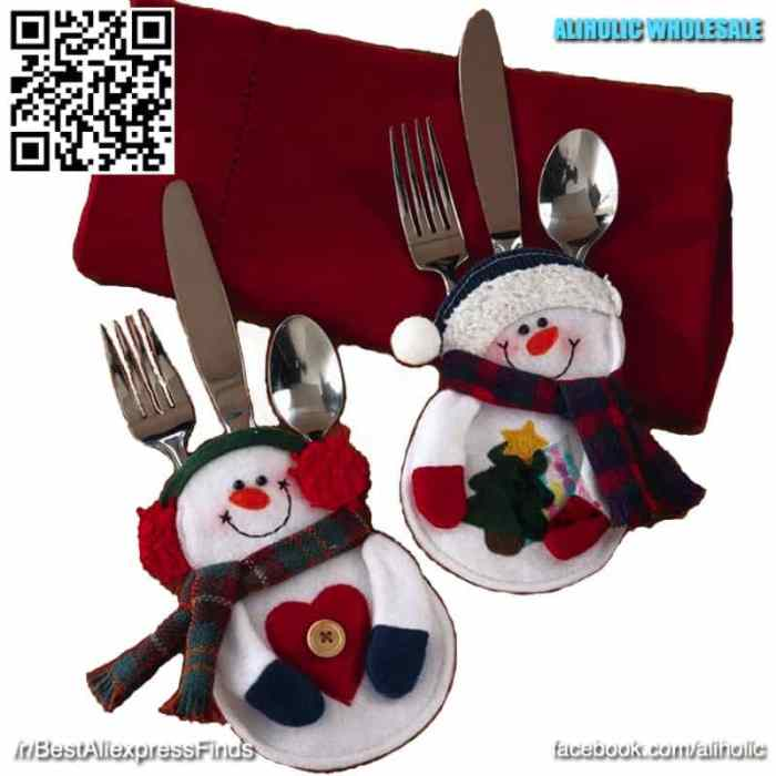 Christmas cutlery bags