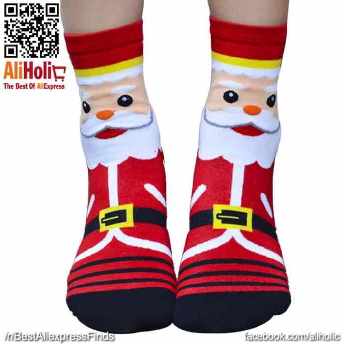 Christmas socks red