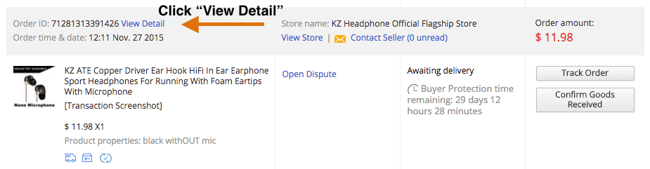How to start AliExpress dispute