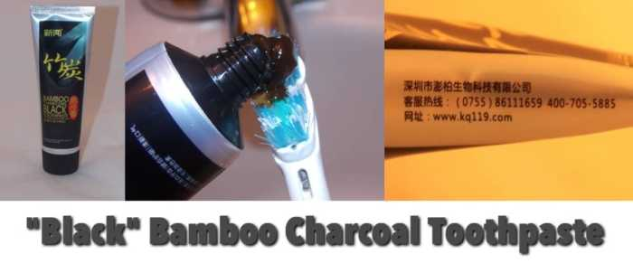 Bamboo charcoal toothpaste review