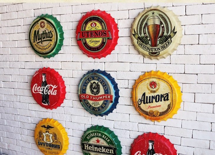 Beer bottle caps wall decor AliExpress