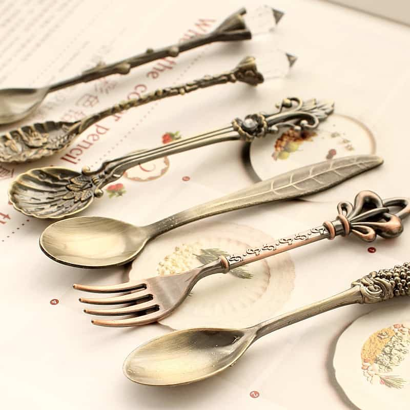 kitchen-dining-bar-nostalgic-vintage-royal-style-bronze-carved-eco-friendly-small-coffee-spoon-and-small