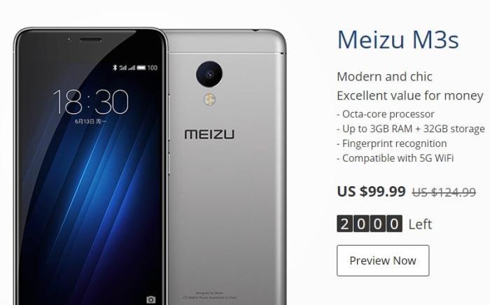 meizu-m3s-11-11-sale