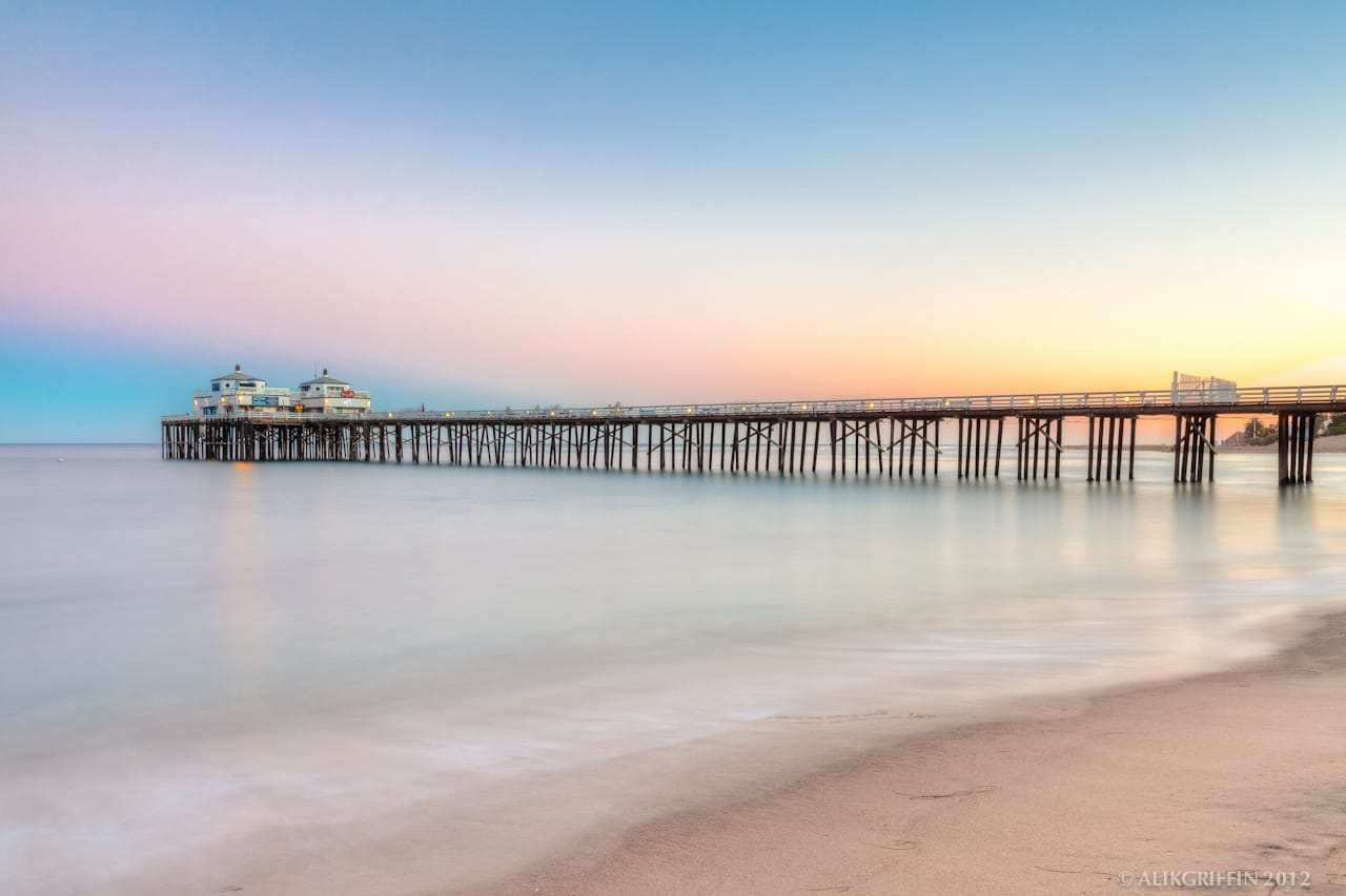 Malibu Pier High Dynamic Range California Ocean Sunset Beach Photography