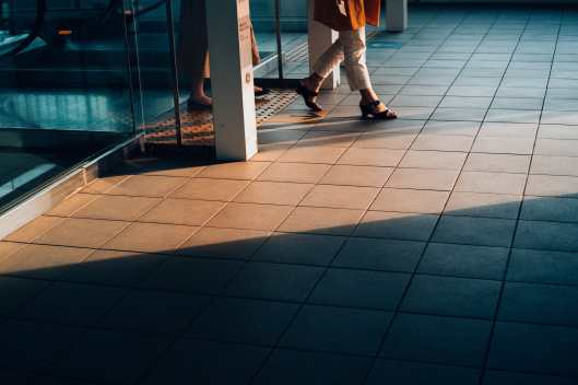 Walking into light