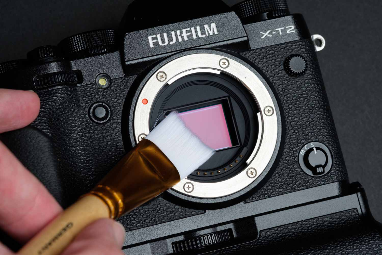 Cleaning the Fuji X-T2 Sensor With a Sensor Brush