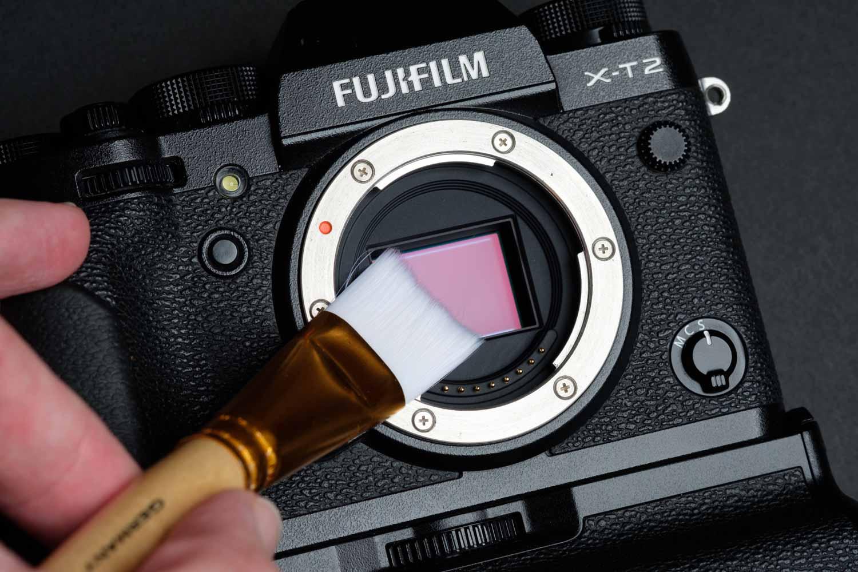 Cleaning the Fuji X-T2 Sensor With a Sensor Brush