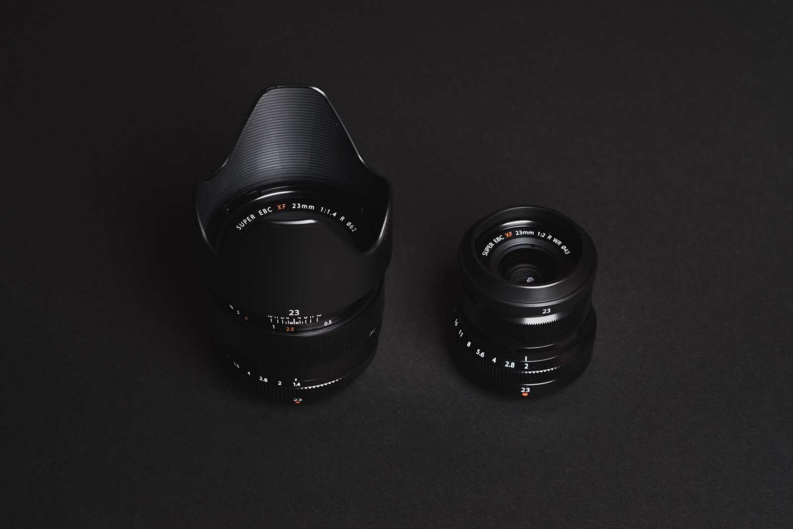 Fujinon 23mm f1.4 vs f2