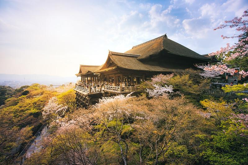Kyoto's Kiyomizu Dera Temple Of Japan