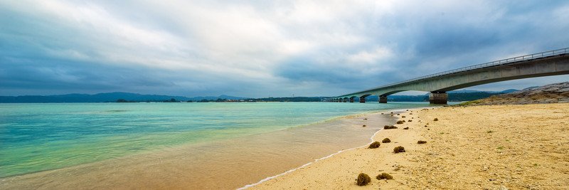 Landscape Photography of Kouri Island Bridge Of Okinawa Japan