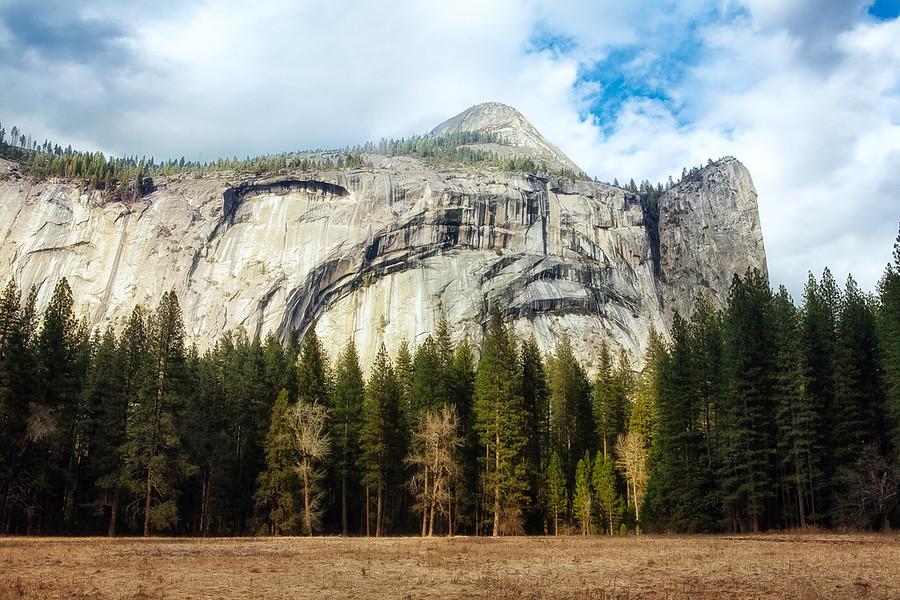 Yosemite's North Dome taken in the spring.