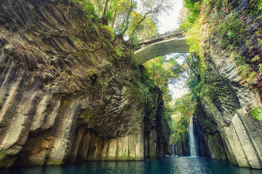 Takachiho Gorge JapanThese are the Manai Falls at the Takachiho Gorge. By Alik Griffin