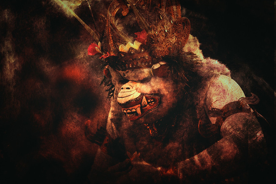 The Warrior Monkey Hanuma from the Kecak Dance.