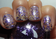 lavender and pink? hex glitter in a clear base