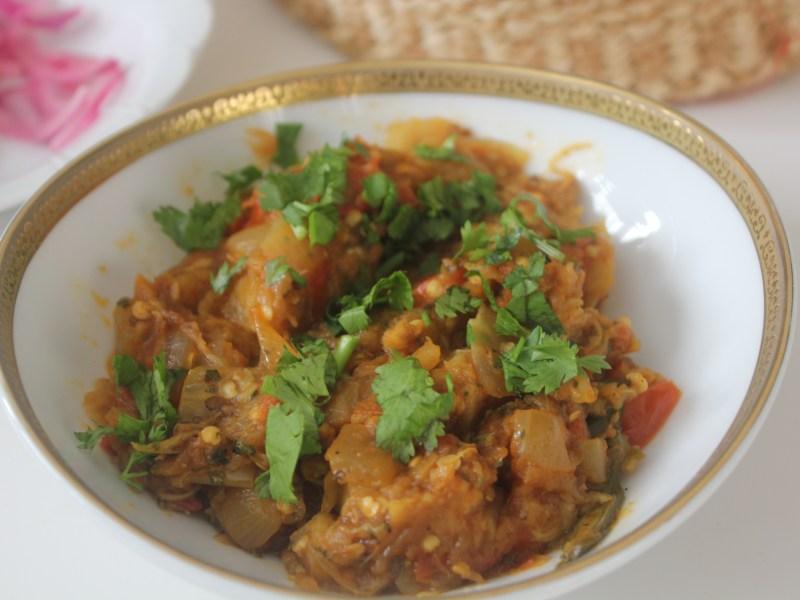 Baingan Bharta (Punjabi Eggplant)