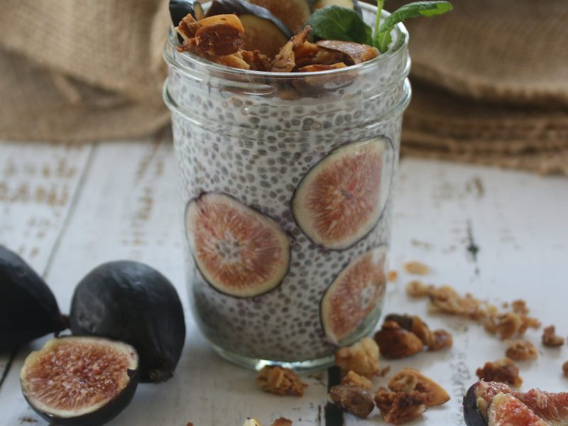 Fig and Chia Pudding Parfait
