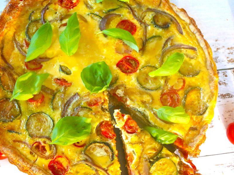 Garden Vegetable Quiche with a Gluten-Free Crust
