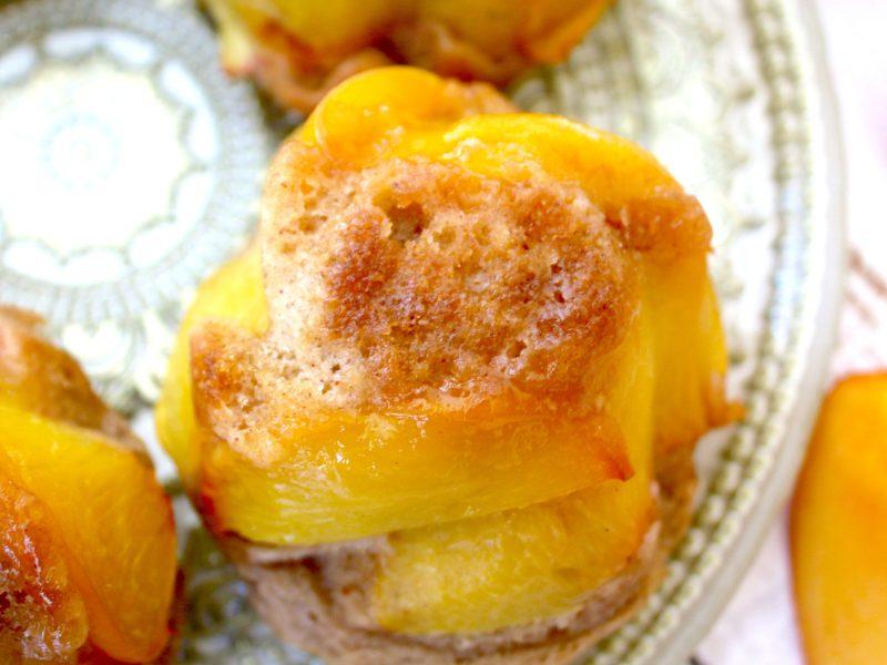 Mini Upside Down Spiced Peach Cakes