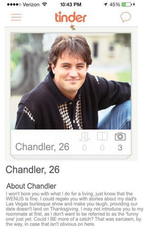 Friends Tinder Chandler