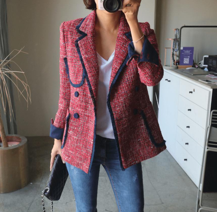 Твидовый пиджак AliExpress