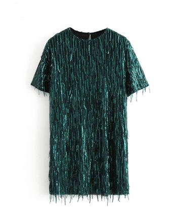 Короткое платье с пайетками ZARA AliExpress