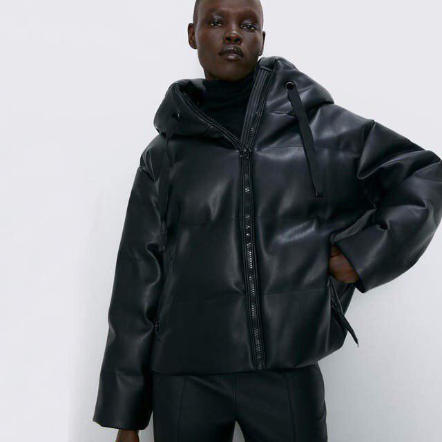 Куртка из искусственной кожи ZARA AliExpress