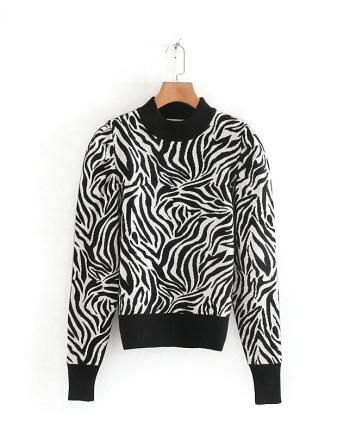Свитер с принтом зебры