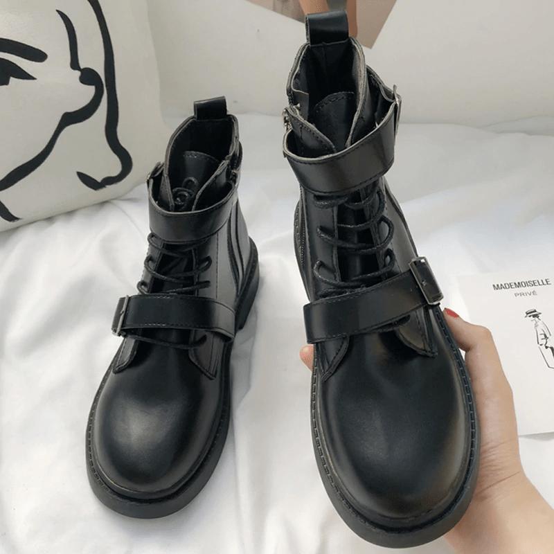 Ботинки из искусственной кожи