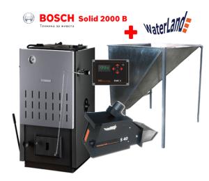 Котел на твърдо гориво Bosch Solid SFU 2000 32kW стоманен-0