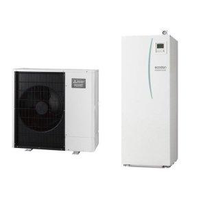 Термопомпа Mitsubishi Electric Ecodan,модел: EHST20C-VM2C+PAC-DP01-E/PUHZ-SW75YAA Power inverter с вграден водосъдържател (8 kW - 400V)-0