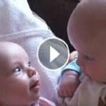 Papá estaba grabando sus gemelos con la cámara. Pero cuando empezaron a hacer esto; Él no puede dejar de reír!