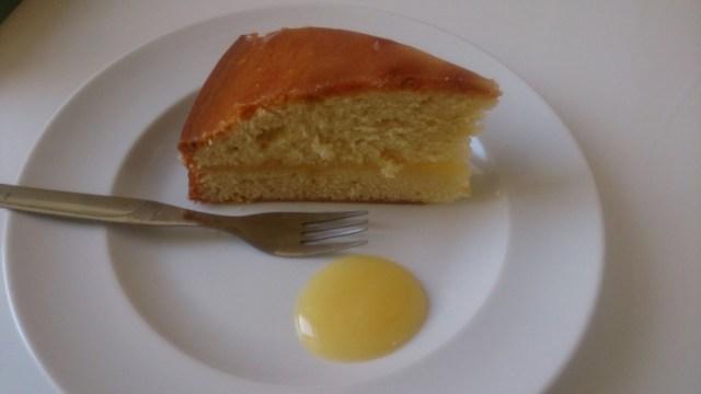 Receta de queque bañado y relleno de lemon curd