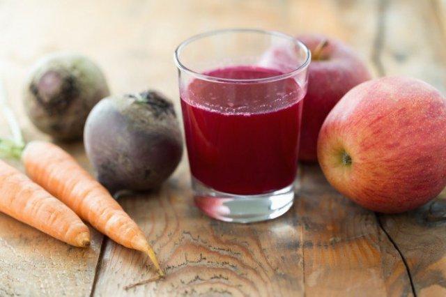 jugo de manzana, zanahoria y remolacha para subir los niveles de hemoglobina