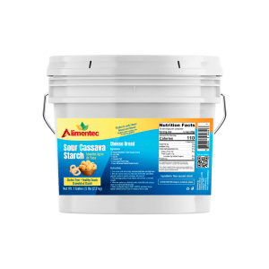 Alimentec Sour Starch (1 Gallon (5 lb.)) , Also Known As polvilho azedo, Resealable Bucket, White Powder, Gluten-Free, Non-GMO